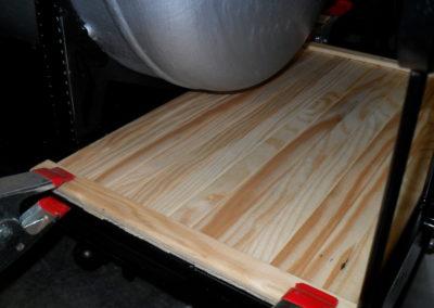 Holzoptik der Bühne