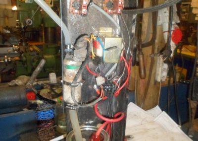 Motage der Pumpe und der Heizung
